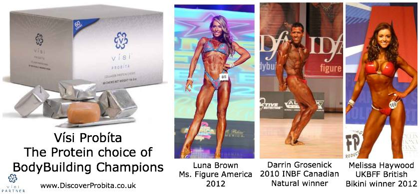 Vísi Probita: The protein choice of body building champions. With Luna Brown, Darrin Grosenick, and Melissa Haywood